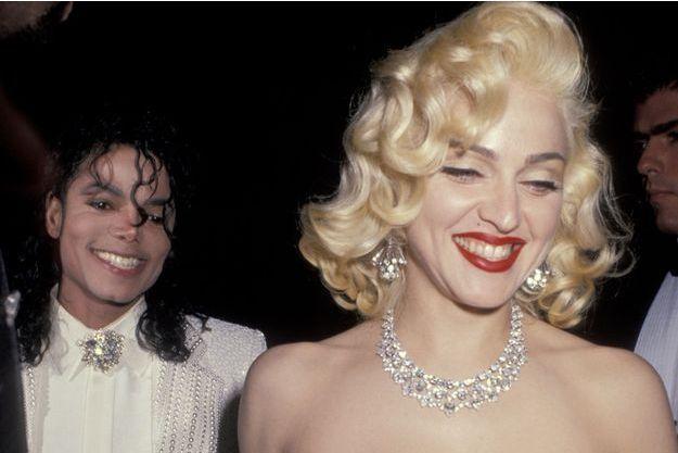 Madonna et Michael Jackson dans les années 90.