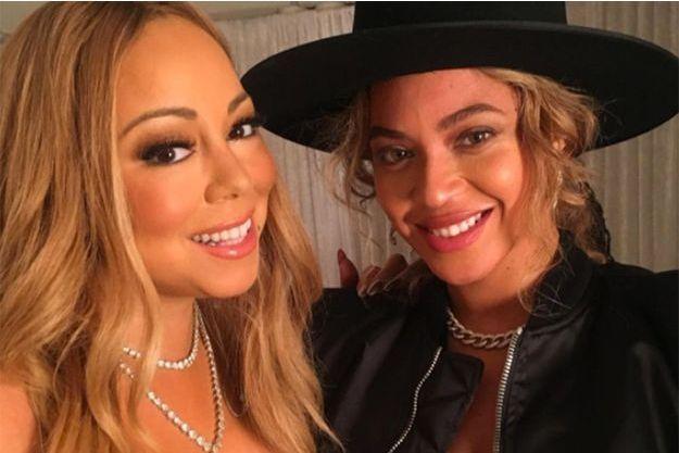 Beyoncé et Mariah Carey à New York, le 11 décembre 2016.