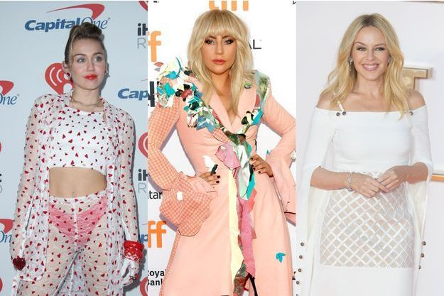 Miley Cyrus, Lady Gaga et Kylie Minogue.
