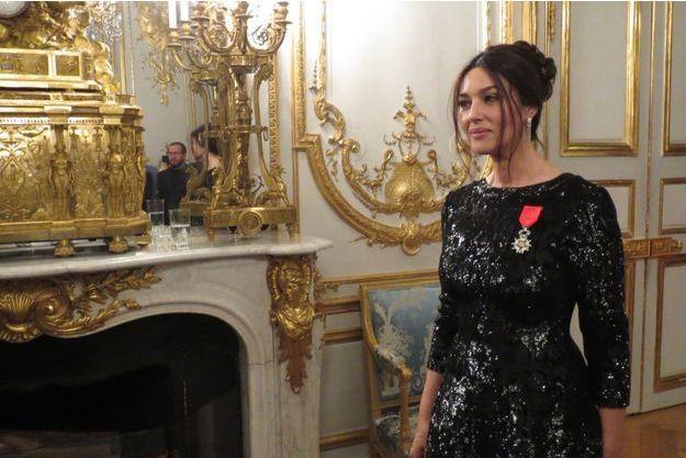 Monica Bellucci à l'Elysée le 24 novembre 2016.