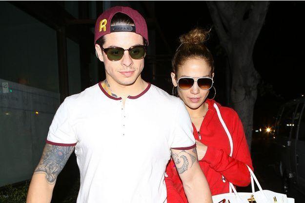 J.Lo et Casper Smart en mars 2014, alors qu'ils étaient encore officiellement ensemble.
