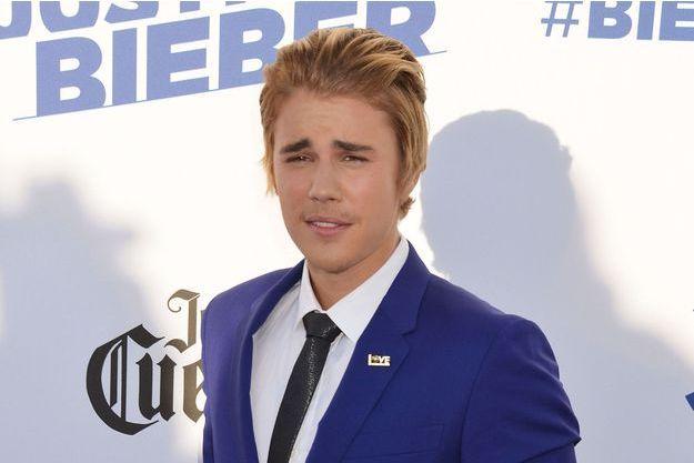 Justin Bieber aux studios Sony de Californie le 15 mars dernier
