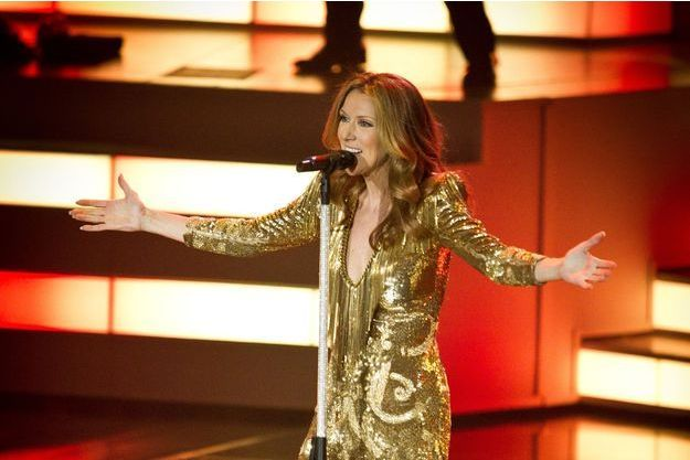 Céline Dion sur la scène du Caesars Palace de Las Vegas en mars 2011