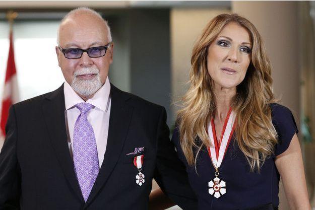 René Angelil et Céline Dion en 2013.