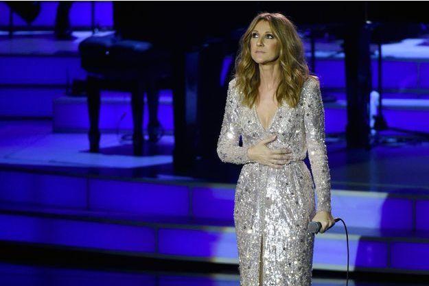 Céline Dion sur la scène du Caesar's Palace, fin août, à Las Vegas.