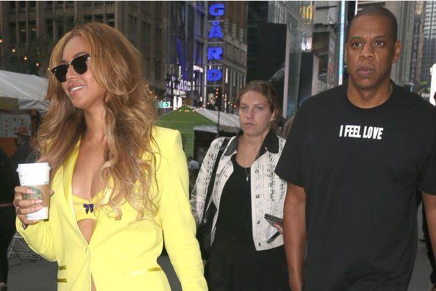 Beyoncé et Jay Z dans les rues de New York, en mai 2015.