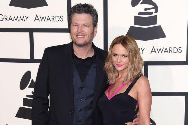 Blake Shelton et Miranda Lambert aux Grammy Awards, le 8 février dernier à Los Angeles.