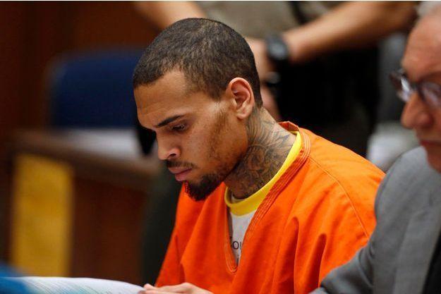 Chris Brown, lundi, devant le juge.