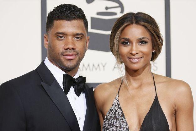 Russell Wilson et Ciara à Los Angeles le 16 février 2016.