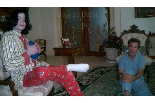 Michael Jackson en compagnie d'Al Malnik