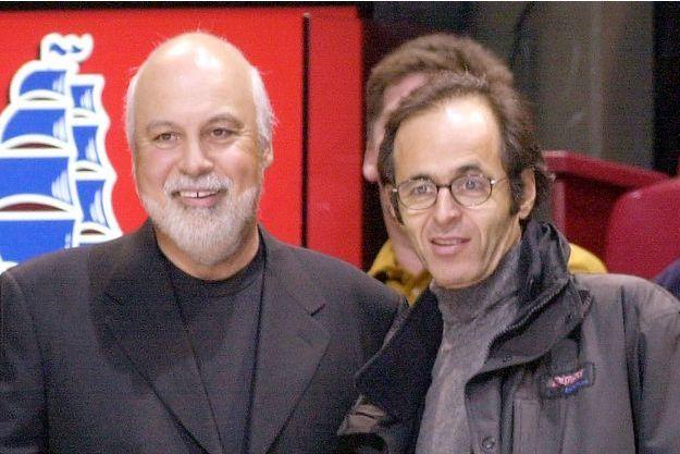 René Angélil et Jean-Jacques Goldman en 2000.