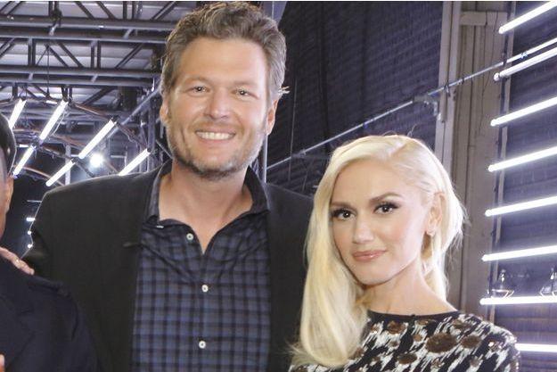 Blake Shelton et Gwen Stefani en 2015.