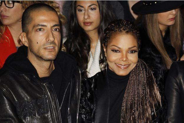 Janet Jackson et son époux Wissam Al Mana, à Milan, en février 2013.