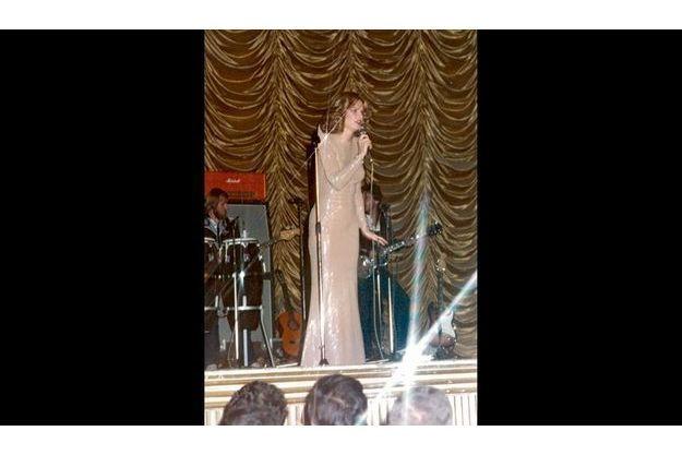 Sur scène à Beyrouth, en 1981, dernier séjour avant sa mésaventure.