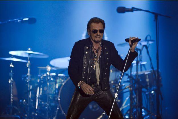 Johnny Hallyday en concert à La Rochelle, juillet 2015.