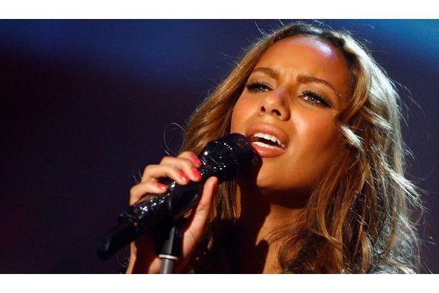 Leona Lewis, lors d'un show pour la télévision allemande en mars 2008