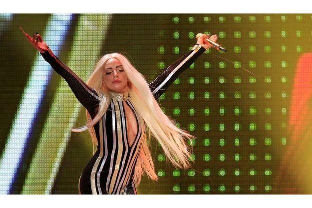 Lady Gaga sur scène, en décembre dernier.