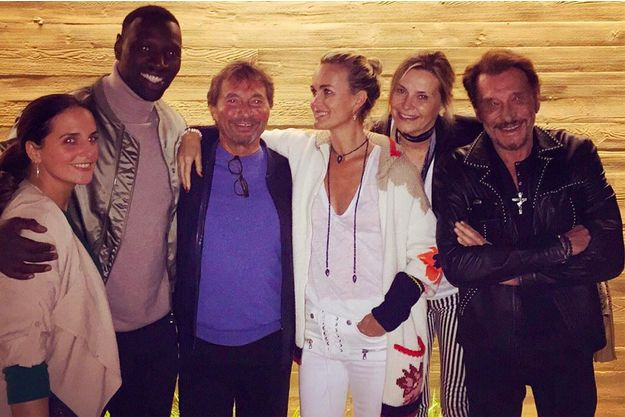 Laeticia Hallyday et Johnny, 13 octobre 2015.