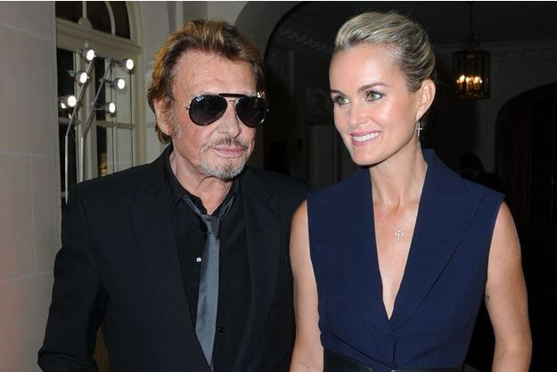 Johnny et Laeticia Hallyday à Paris en octobre 2014.