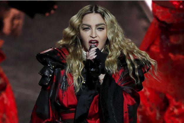 Madonna en concert à Macao le 20 février 2016.