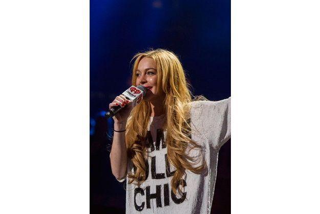 Lindsay Lohan en présentatrice au Z100 Jingle Ball à NYC en décembre dernier
