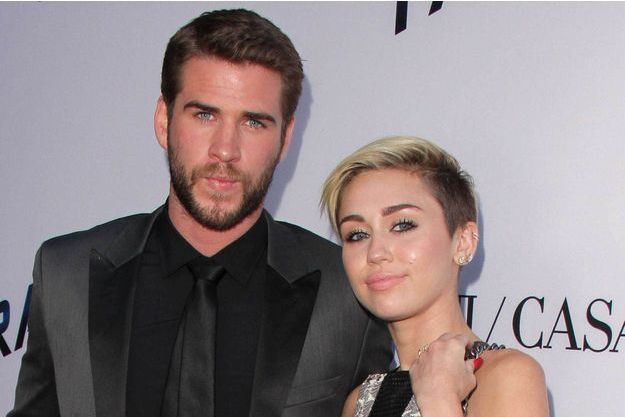 Miley Cyrus et Liam Hemsworth, 2013.