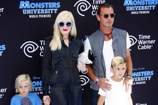 Gwen Stefani, son mari Gavin Rossdale et leurs fils, Kingston et Zuma (en juin dernier).