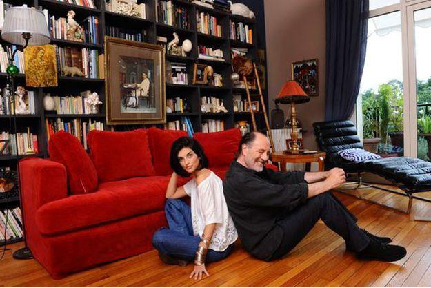 Pauline et Michel Delpech lors de leur dernière interview pour Paris Match.