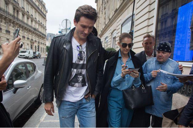 Céline Dion et Pepe Munoz à Paris, en août 2017.