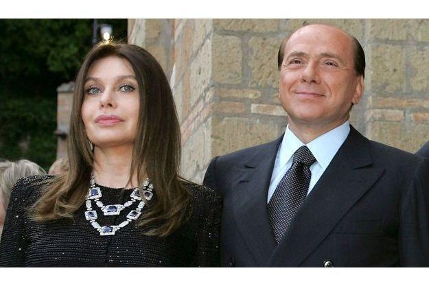 Veronica Lario et Silvio Berlusconi.