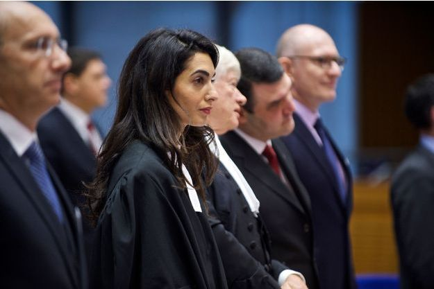 Amal Clooney à la Cour européenne des droits de l'homme le 28 janvier dernier