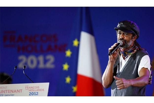 Yannick Noah a chanté le 22 janvier dernier pour le meeting de François Hollande au Bourget.