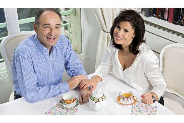 Le 9 février, prenant le thé avec Nadia. Déjà tous deux parents avant de s'unir, ils ont au total six enfants, dont une fille en commun.