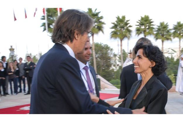 Dominique Desseigne et Rachida Dati.