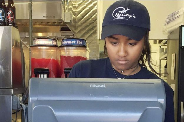 Sasha Obama au Nancy's, le 3 août 2016.