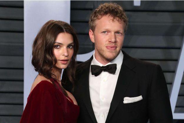 Emily Ratajkowski et son époux en mars 2018.
