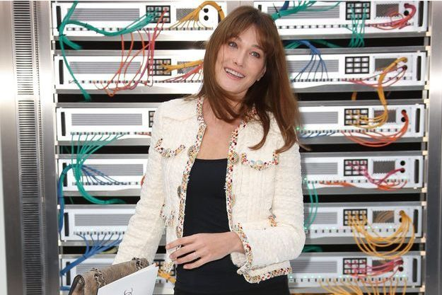 Carla Bruni à Paris en octobre 2016.