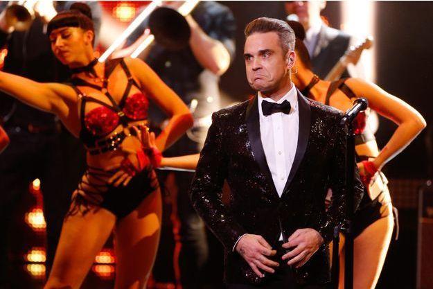 Robbie Williams, en concert le 17 novembre 2016 à Berlin.