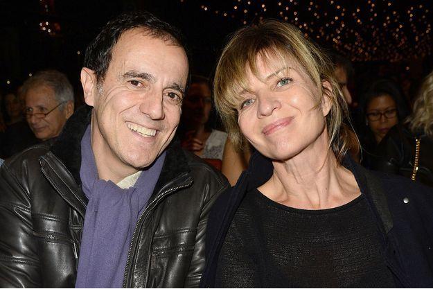 Thierry Beccaro et sa femme Emmanuelle Lannes en novembre 2015.