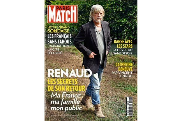 Renaud en une de Paris Match.