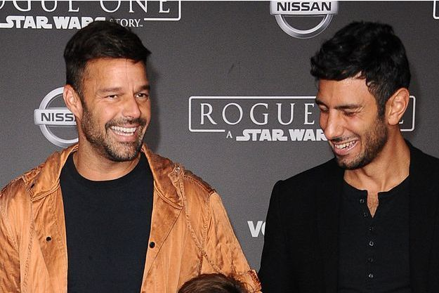 Ricky Martin avec son futur mari, Jwan Yosef, à Los Angeles en décembre 2016.