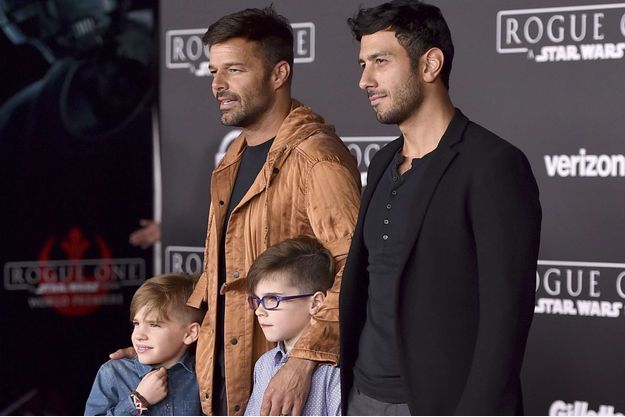 Ricky Martin et sa famille à Los Angeles.