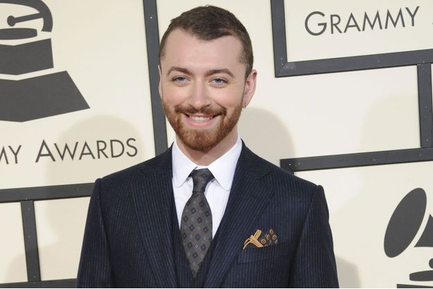 Sam Smith aux Grammy Awards en 2016