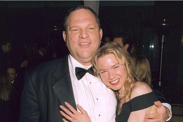 Harvey Weinstein et Renée Zellweger, le 25 février 2002 à Londres.