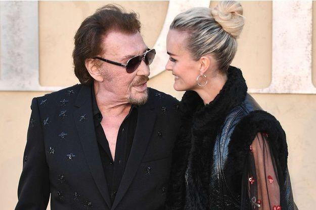 Johnny et Laeticia Hallyday à Los Angeles en mai 2017.