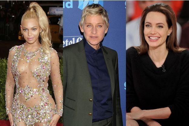 """Beyoncé, Ellen DeGeneres et Angelina Jolie figurent parmi la liste des femmes les plus puissantes au monde, selon """"Forbes""""."""