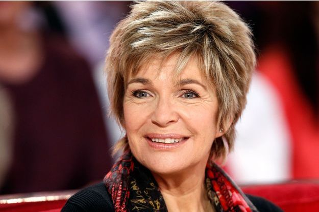 """Véronique Jannot lors de l'enregistrement de l'émission """"Vivement Dimanche"""", le 25 novembre dernier."""