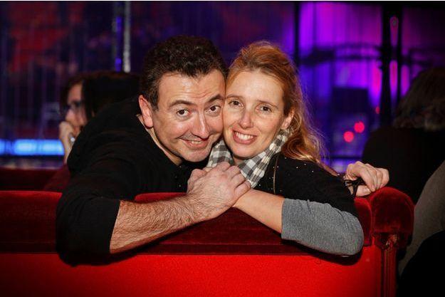 Gérald Dahan et sa compagne, Claire, à Paris en décembre 2014