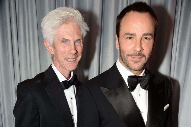 Richard Buckley et Tom Ford aux GQ Men of the Year Awards, en septembre 2013.