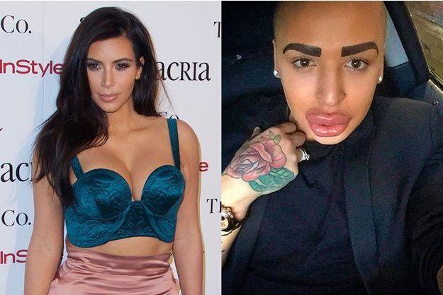 """Jordan James Dunn, un Anglais de 24 ans, est prêt à tout pour """"ressembler"""" à Kim Kardashian"""